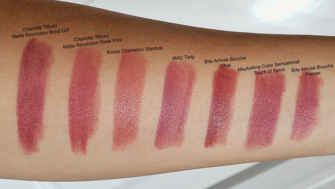Charlotte Tilbury Rose Kiss Comparison swatches